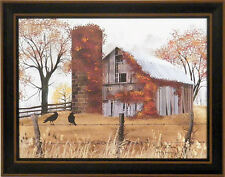 THE OLD BARN by Billy Jacobs FRAMED ART PRINT 15x19 Farm Barn Silo Fence PICTURE