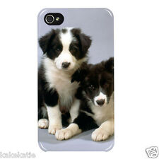 Dogs puppy i phone 4 4s white hard back case skins cover for i phone 4 4s