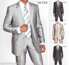 New Men's Slim Fit Sharp and Impressionable Wool Feel Suit 2 Button 57021B