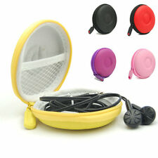 Mobile MP3 iPad 4 Ear Phone Headphone Cord Hard Round Carrying Storage Case Bag