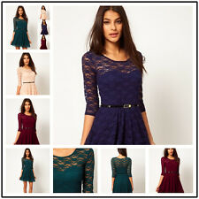 MINI DRESS FASHION 2013HOT SEXY LADY ROUND NECK LACE SLIM COCKTAIL PARTY WOMEN B
