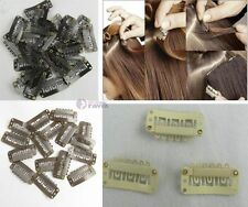 10,20,30 50,100pcs snap clips for human/ feather hair extension 3 colors