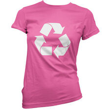 Recycling Symbol - Womens / Ladies T-Shirt - Recycle - Gift - Clothing