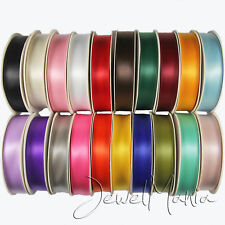 25 Metres Of 15mm DOUBLE FACED Sided PREMIUM SATIN RIBBON Rolls - Many Colours
