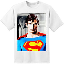 SUPERMAN T SHIRT - CHRISTOPHER REEVE RETRO MOVIE - HUGE PRINT! (S-3XL)