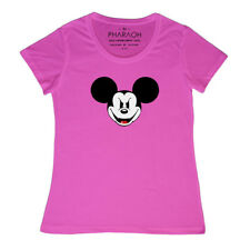 EVIL MICKEY MOUSE DISNEY LADIES FITTED T SHIRT (SIZE 8 - 20)