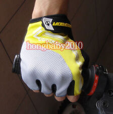 Yellow Cycling Gloves Bike Bicycle Ultra-breathable Shockproof Half Finger Glove