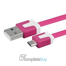 1m Hot Pink Noodle Micro USB Charger Cable For Samsung Galaxy S2 S3 S4 Note 2