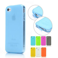 Anti-Dust Cap Soft TPU Silicone Case Cover+FREE Screen Protector For iPhone 4 4S