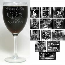 Personalized 10.5 oz Wine Glass Wedding Party Gifts Bridesmaids Groomsman Custom