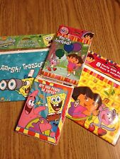 PARTY INVITATIONS + PARTY BAGS - SPONGE BOB or DORA THE EXPLORER -NEW IN PACKAGE