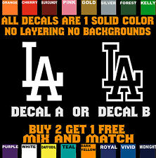 "LOS ANGELES DODGERS 2.75""W x 4""H LA VINYL DECAL STICKER ** BUY 2 GET 1 FREE **"
