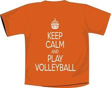 Keep Calm And Play Volleyball T Shirt Orange