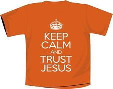 Keep Calm And Trust Jesus T Shirt Christian Orange