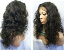 "12"" Malaysia Curly full/front lace wigs 100% real remy human hair wig 5 colors"