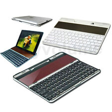 Solar Thin Aluminum Wireless Bluetooth Keyboard-Dock with Stylus for iPad 2 3 4
