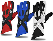 K1 - Pro-X SFI-5 Rated Racing Gloves - Driving Auto Nomex  - Black 3XS Closeout!