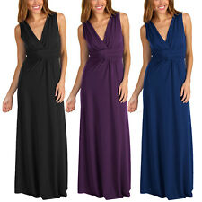 Chic Sleeveless Long Jersey Maxi Cocktail Party Evening Dress ed4116