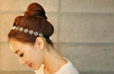 Fashion Lady Sweet Elegant Rose Flower Elastic Hair Band Headband Head Jewelry