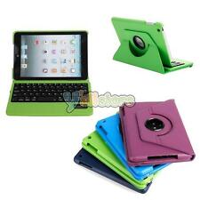 360 Rotating Leather Removable Bluetooth Keyboard Case Cover for Apple iPad Mini