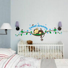 Cheeky Monkey Removable Wall Sticker Decal Kid Nursery Baby Decor Optional Name