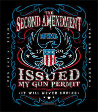 The 2nd Amendment Issued My Gun Permit it Will Never Expire T-Shirt Ships FREE