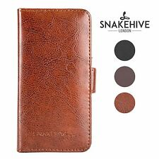 Nokia Lumia 925 Genuine Snakehive Real Leather Wallet Flip Case Cover & SP