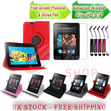 360 LEATHER CASE COVER SCREEN PROTECTOR & STYLUS FOR AMAZON KINDLE FIRE HD 8.9""