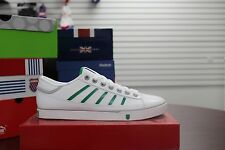 K-Swiss Men's Court PC Low Shoes White Green Grey Sneakers Brand New In Box