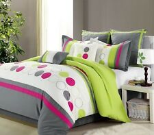 8 PC BEDDING SET - COMFORTER SET - BED IN A BAG - MULTIPLE DESIGNS