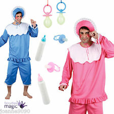 Adulto Para Hombre Funny Big Cry Baby Mameluco Traje Stag Botella Fancy Dress Costume Lote