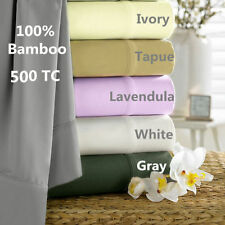 SHEET SET QUEEN LUXURY 100% BAMBOO 4 PIECES