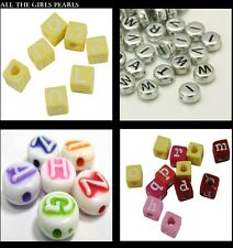 *CLEARANCE* 100 Acrylic Alphabet Beads. 4 Styles available Mixed Letters