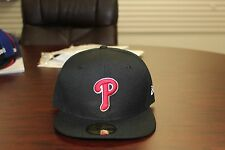 Philadelphia Phillies MLB Black Red White New Era 59 Fifty Fitted Hat Authentic