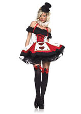 NEW Sexy Magician Queen of Hearts Pretty Playing Cards Women's Halloween Costume