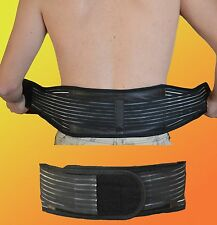 power magnetic lower back support belt double pull lumber brace pain relief