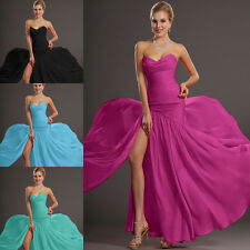 On Sale! Fuchsia Strapless Evening Dresses Party Dresses Plus Size US 2 4 6 8 10