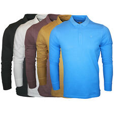 NEW MENS 883 POLICE JEANS NASH DESIGNER COTTON LONG SLEEVED POLO TOP SIZES S-XXL