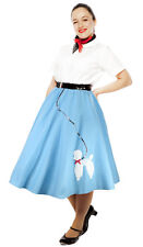 50s Felt Sock Hop Poodle Circle Skirt - sz Adult Medium / Large by Hey Viv Retro