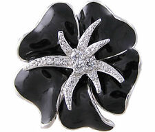 Black Clear CZ Starfish Ring Size 5 6 7 8 9 10 Affordable Cubic Zirconia Jewelry