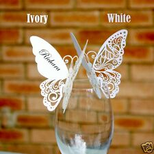 New Butterfly Place Cards for WeddingTable Settings White or Ivory Postage Free