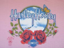 VTG 80s 3D Harley Honey Ladies Night Shirt Motorcycle Biker HD not 70s 90s