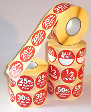 Promotional Point Of Sale Retail Price Stickers Sticky Tags Labels POS 1/2 Price