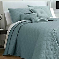 JCP Royal Velvet OGEE BEDSPREAD Quilt Stitching Matte Satin Retail up to $220