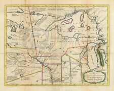 1767 COLONIAL MAP INDIAN TRIBES OF MIDWEST Historical Vintage Largest Sizes