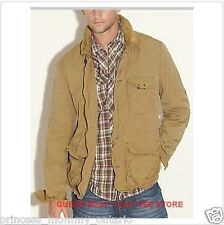 NEW Mens GUESS Jacket Rugged Coat Button Down Corduroy Trim S M L