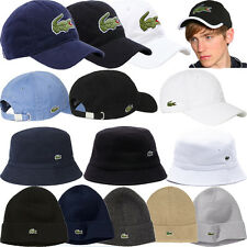 MENS LACOSTE CAPS HATS ADJUSTABLE STRAP BASEBALL CAPS HATS - 100% ORIGINAL