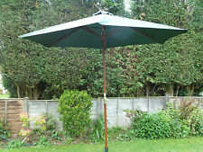 Large 3m Wooden Garden Parasol Umbrella Crank REDUCED  Green Yellow Black Red