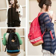 Cute Women Bag Vintage Canvas Satchel Girls' Backpack Shoulder School Bag Unisex