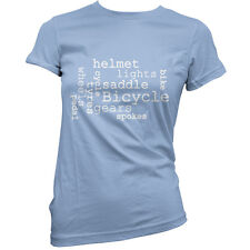 Bicycle Word Cloud - Womens /Ladies T-Shirt - Cycling - Cyclist -11 Colours